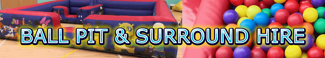 Ball pit soft play surround hire