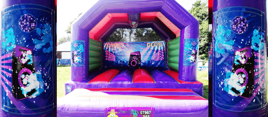 disco bouncy castle wales