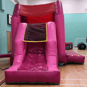 pink combo slide hire