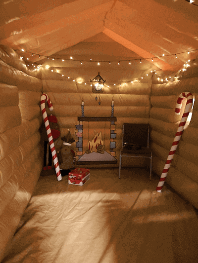 santas grotto hire inside