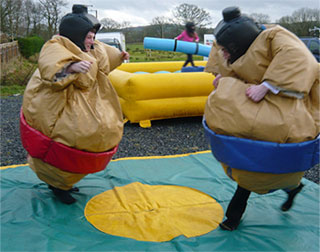 Sumo wrestling suit hire wales