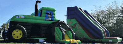 tractor trailor bouncycastle hire
